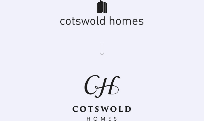 Cotswold Homes old vs new logo
