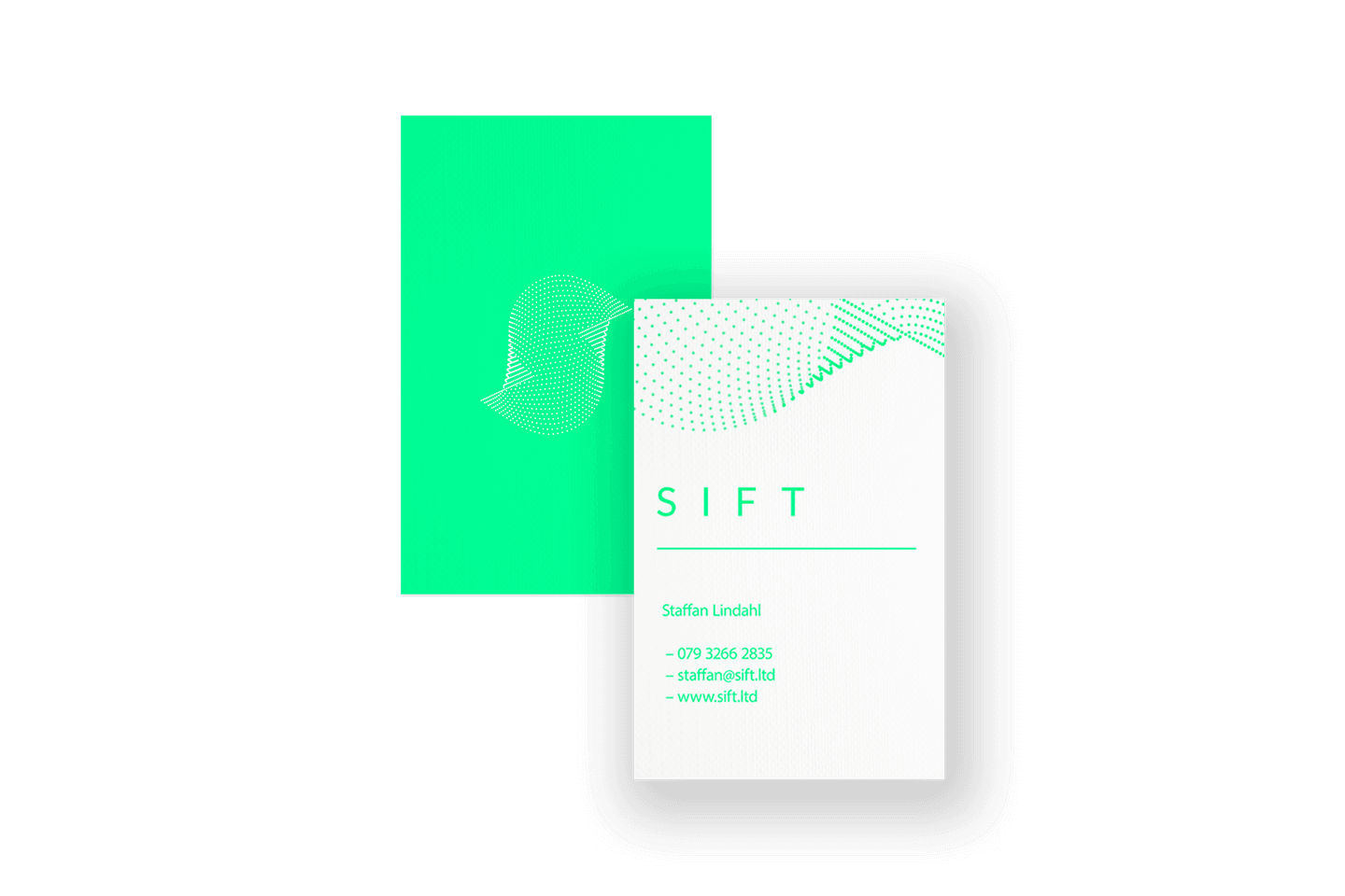 Sift business card design