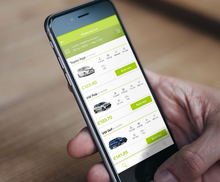 Green Motion car rental app
