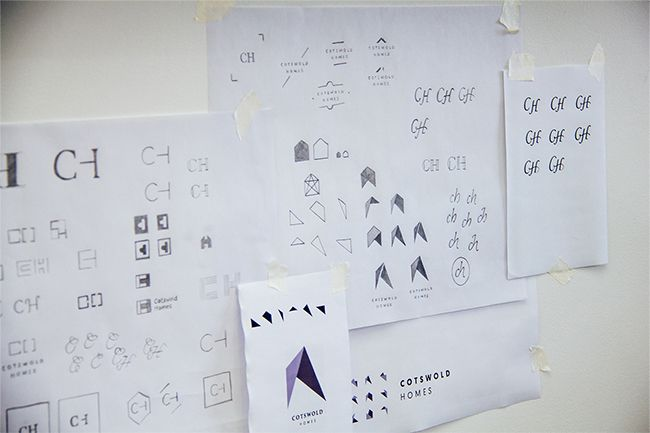 Cotswold Homes logo design process