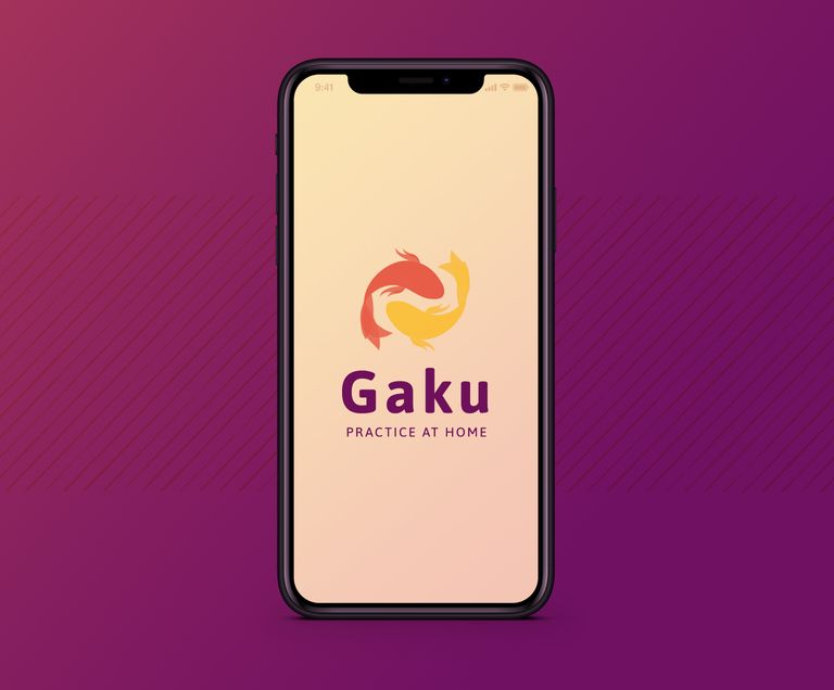 Gaku logo on an iPhone