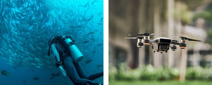 Scuba Cenotes and Drone photography