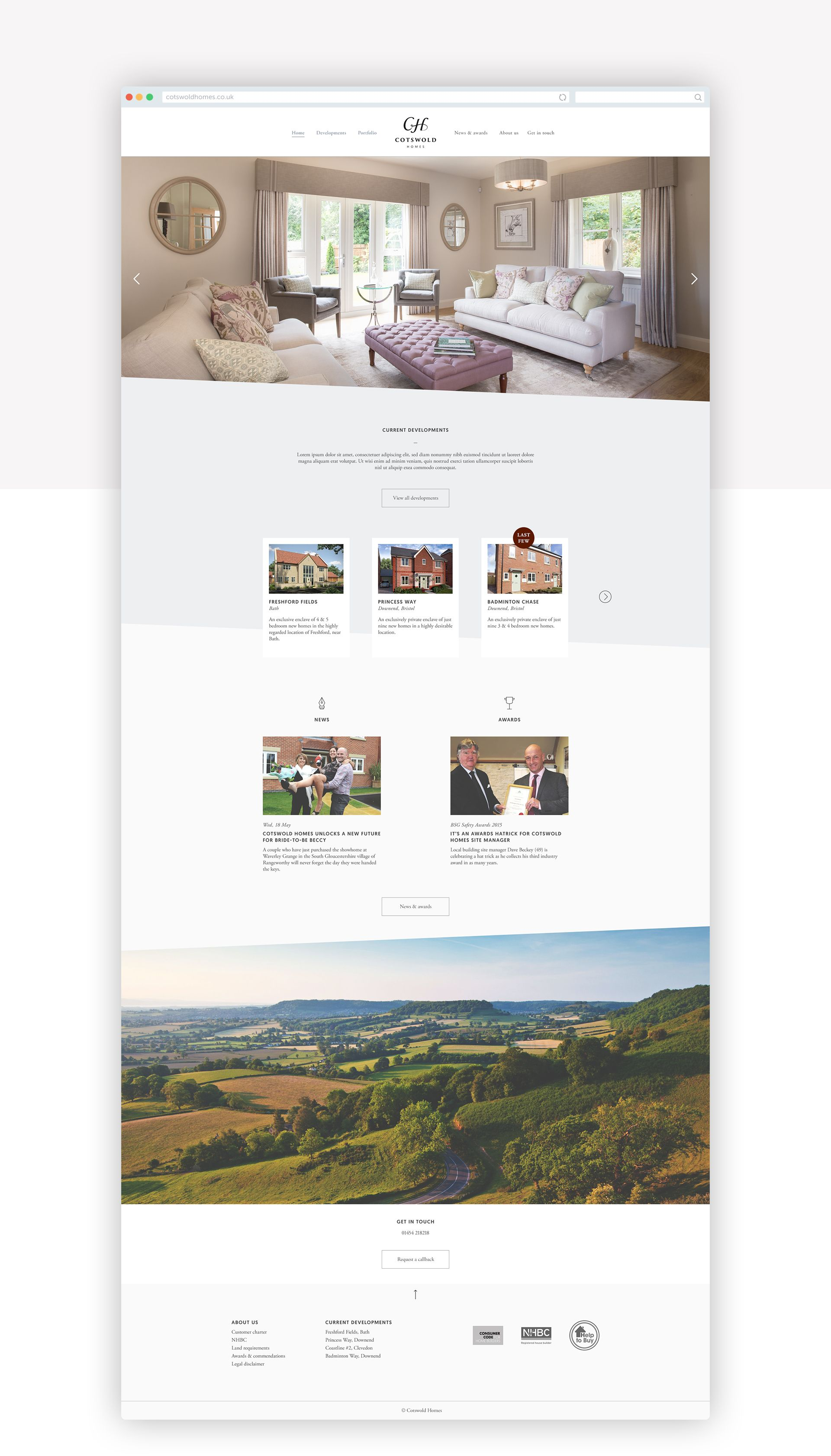 Cotswold Homes website