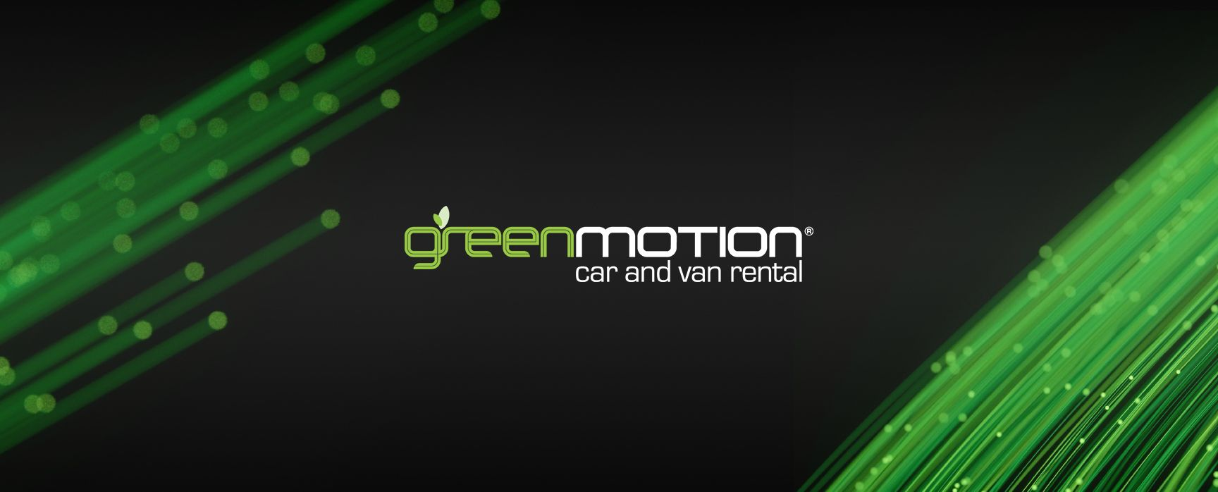 Green Motion logo and light trails
