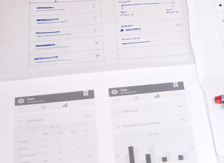 Lifetime training wireframes