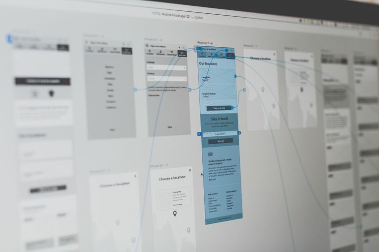 Digital wireframes